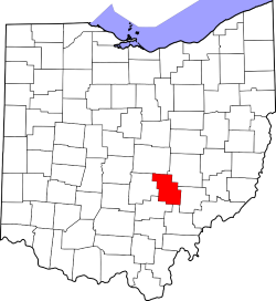 map highlighting perry county